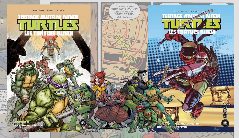 Poursuivre les Comics Tortues Ninja avec les Tomes 2 et 3 : La Chute de New York !